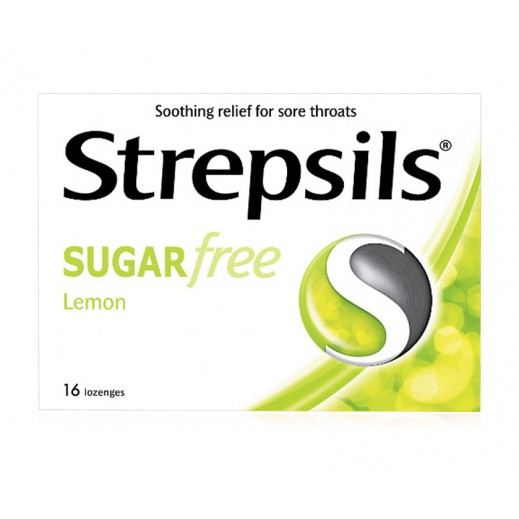 Strepsils Sore Throat Relief Lemon Sugar Free 16s