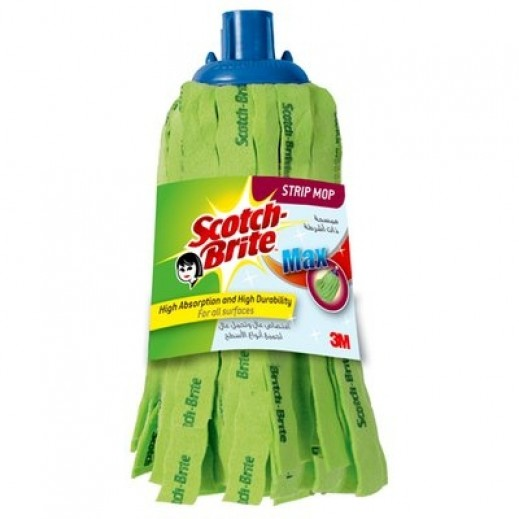 Scotch-Brite Max Strip Mop Green Refill