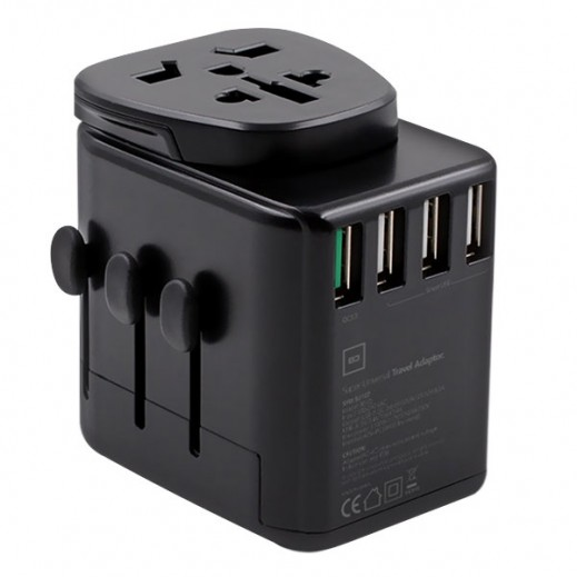 BD All-In-One Universal Travel Adapter - Black
