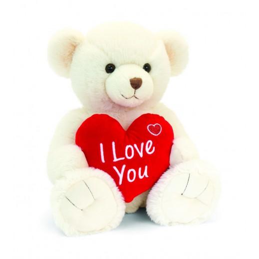Keel 25 cm Cream Snuggles Bear with Heart