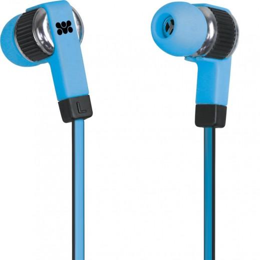 Promate Swish Universal Trendy Stereo Earphones Blue
