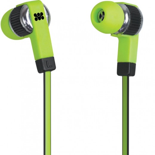 Promate Swish Universal Trendy Stereo Earphones Green