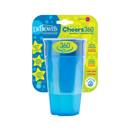Dr.Brown's Cheers 360 Spoutless Transition Cup 300 ml (9+ Months) Blue