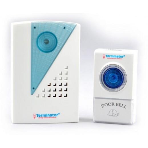 Terminator wireless digital door bell - White