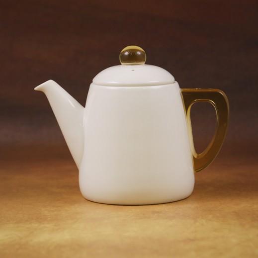 Daybreak Ceramic Tea Pot with Acrylic Handle Yellow 700 ml