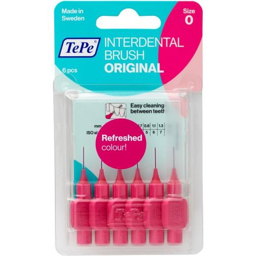 Tepe Interdental Orginal Brush Pink Blister .4 mm 6 Pieces