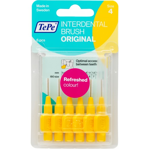 Tepe Interdental Orginal Brush Yellow Blister .7 mm 6 Pieces