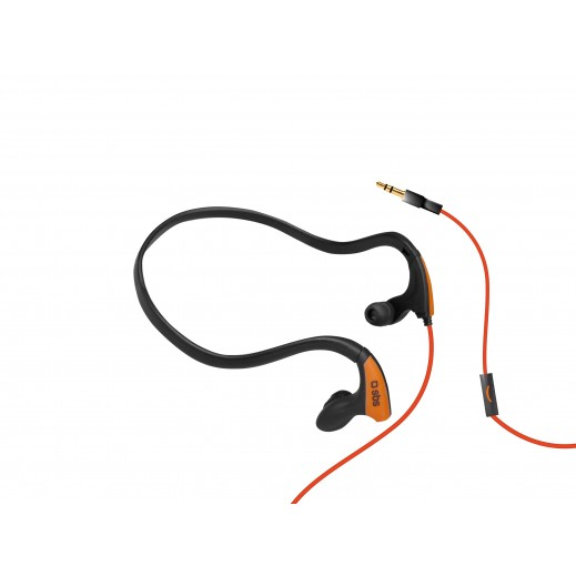SBS Earset Wired Stereo Runway Pro Sport For All Mobiles Black Orange
