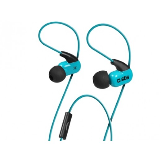 SBS In-ear Stereo Earphones Runway Ghost 3.5 mm With Microphone Blue
