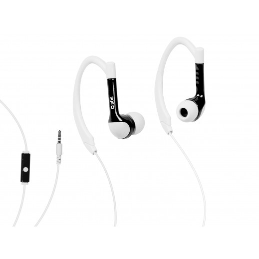 SBS In-Ear Stereo Earphones Runway Sports For iPhone,Smartphones And Mobiles Black/White