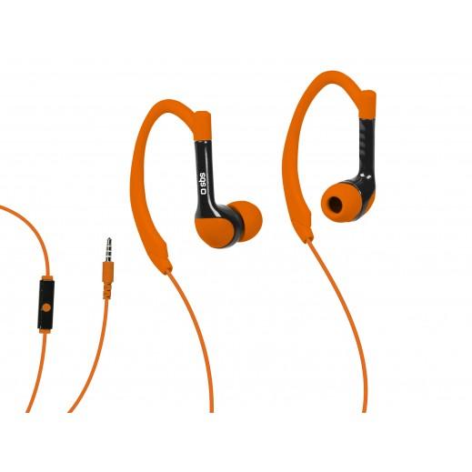 SBS In-Ear Stereo Earphones Runway Sports For iPhone,Smartphones And Mobiles Orange