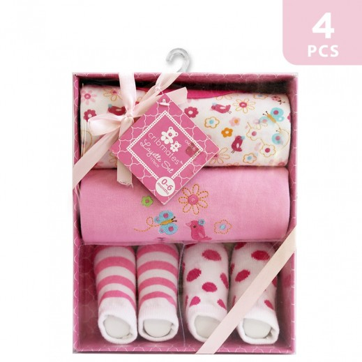 Cribmates Layette Set of 4 Pink