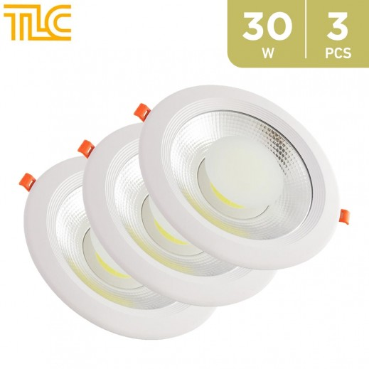 TLC 30W Down Light COB 20x20cm - Yellow - 3PCS