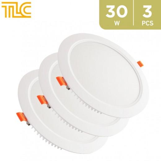 TLC 30W LED Deep Panel Light 20x20cm - White - 3PCS