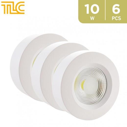 TLC 10W LED Surface Mounted COB Light 12x12cm - Yellow - 6PCS