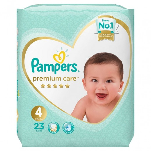 Pampers Premium Care Diapers Stage 4 (9-14 Kg) 23 Pieces