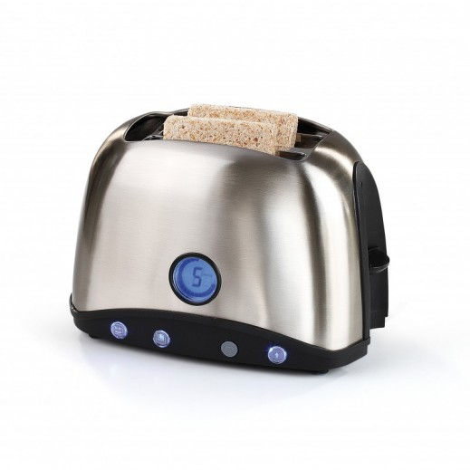 Domo Clip Stainless Steel Toaster Dual Slots 770-920 W - Silver