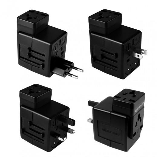 Promate Universal Auto-Switch Adaptor Kit Duo