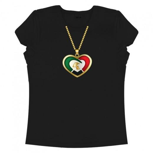 Necklace Female T-Shirt Black (XL)
