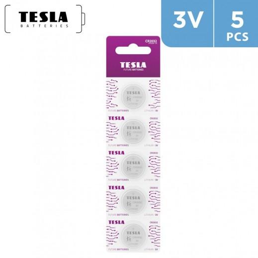Tesla Alkaline Batteries CR2032 - 5 Pieces