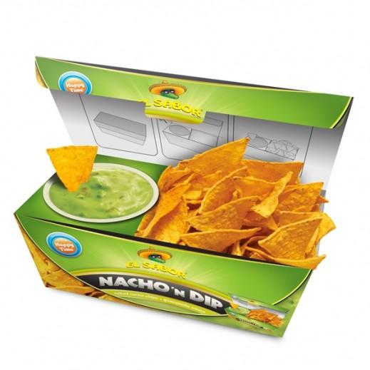 El Sabor Salted Nacho Chips & Guacamole Sauce 175 g
