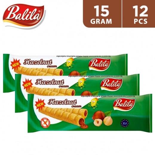 Balila Puffy Corn Fingers Filled w/ Hazelnut Flavour Cream 12 x 15 g