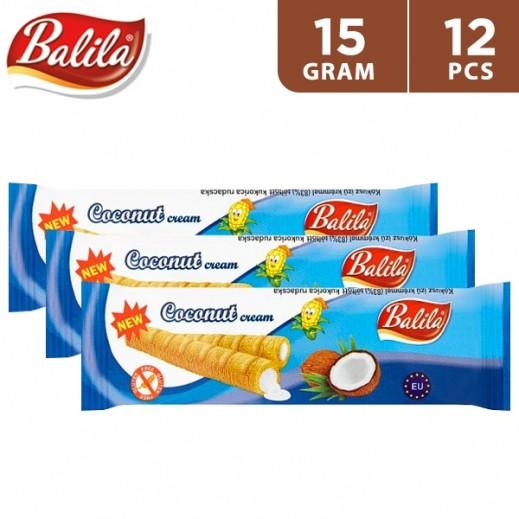 Balila Puffy Corn Fingers Filled w/ Coconut Flavour Cream 12 x 15 g