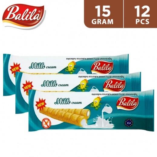 Balila Puffy Corn Fingers Filled w/ Milk Cream 12 x 15 g