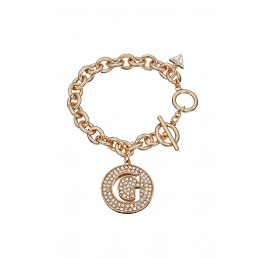 Guess Bracelet Large G Disc Rose Gold - delivered by Beidoun after 3 Working Days