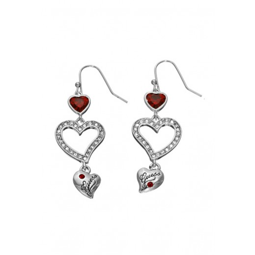 Guess Triple Heart Drop Earrings - delivered by Beidoun after 4 Working Days
