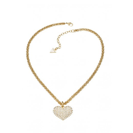 Guess Basic Instinct Heart Pendant Necklace Gold - delivered by Beidoun