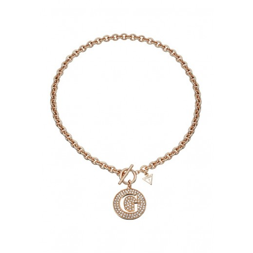 Guess Large G Disc Pendant Necklace Rose Gold - delivered by Beidoun