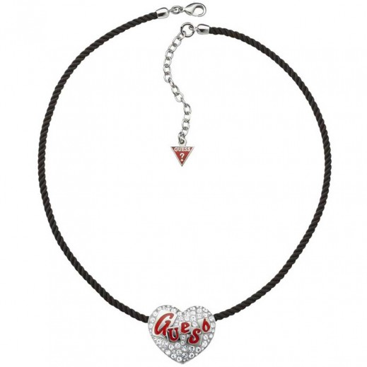 Guess String Neckalce With Silver Tone Heart Pendant - delivered by Beidoun after 4 Working Days
