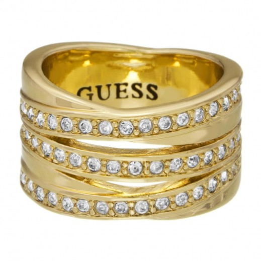 Guess Multi Criss Cross Ring Gold Size 54 - delivered by Beidoun