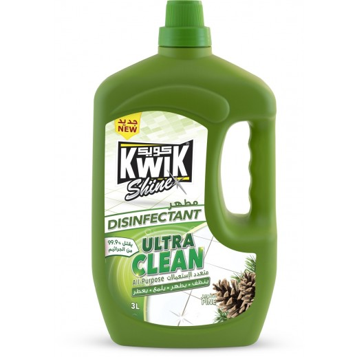 Kwik Shine Disinfectant Ultra Clean Pine 3 L