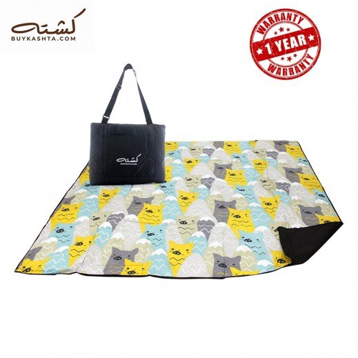 Kashta Polyester Picnic Blanket - Yellow
