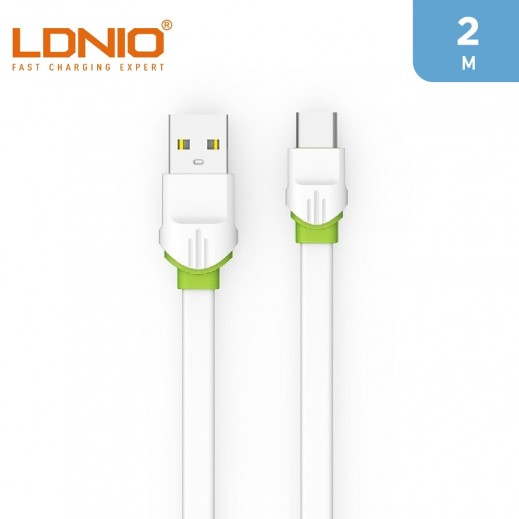 LDNIO 2m USB-A To Type-C Cable 2.4A - White