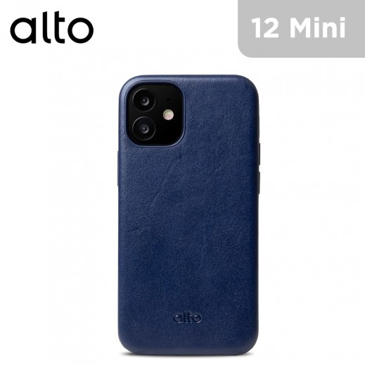 Alto Original 360 Italian Leather Case for iPhone 12 mini - Navy Blue