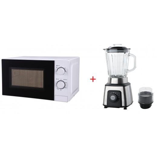 UTEC Microwave 20 L + Blender with Dry Mill 1.5 L 550 W - UMWB2001WH & UBLT1501GL