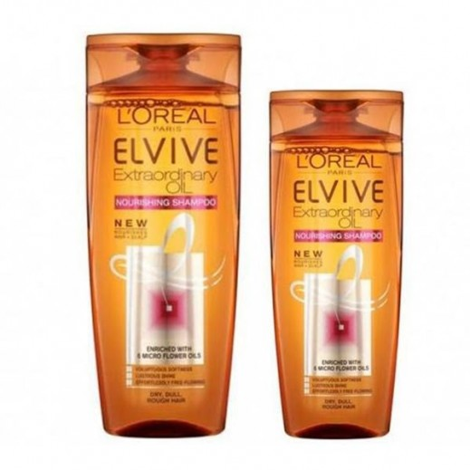 L'Oreal Elvive Extraordinary Oil Normal Hair Shampoo 400 ml + 200 ml Free