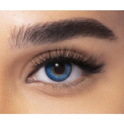 Freshlook Color Blend Monthly Non Prescription Contact Lenses Brilliant Blue 1 Pair With Solution