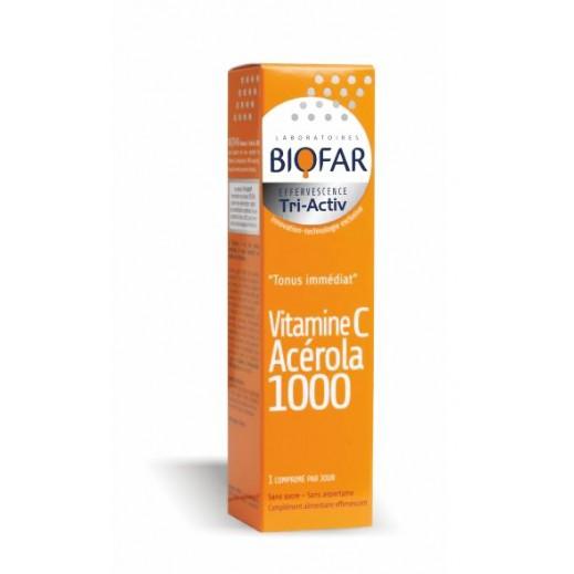 Biofar Effervescent Tri-Activ Tonus Immediat Vitamin C Acerola 1000