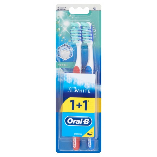 Oral B Tooth Brush Adv 3D Fresh Medium 1+1