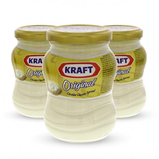 Kraft Cheddar Cheese Spread Original 240g (3 Pieces) 25% Off