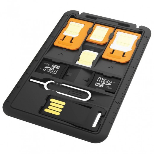 Promate Multi-Function 8-in-1 SIM Card Holder
