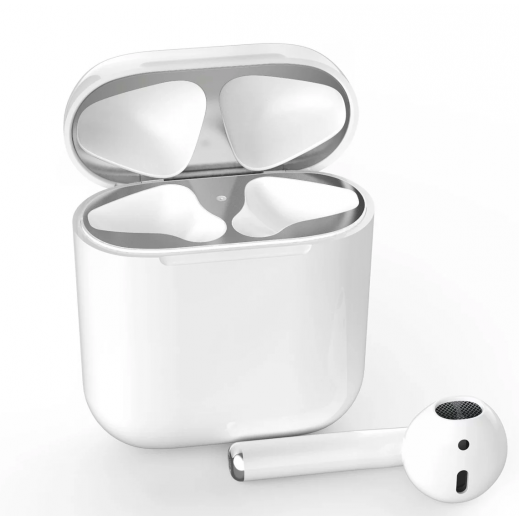 AHAStyle Sticker for Apple Airpods Case - Silver