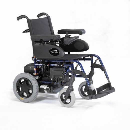 Sunrise Power Wheelchair 43 cm Width 100 Kg Capacity - Blue - delivered by Al Essa After 2 working Days