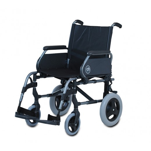 Sunrise Wheel Chair Breezy Style 52 cm Width 100 Kg Capacity – Grey - delivered by Al Essa After 2 working Days