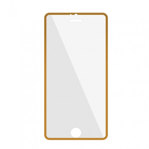 Promate Tempered Glass Ultra-thin Screen Protector With Applicator For Iphone 6/6S Gold