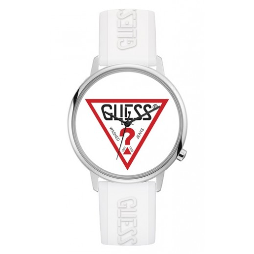 Guess Hollywood White Silicone Strap Unisex Watch - delivered by Beidoun after 3 Working Days